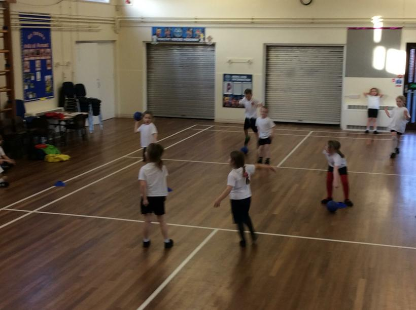 Danny showed us how to play dodgeball.