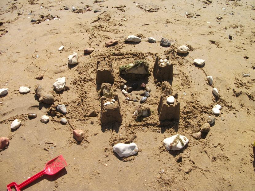 Our finished castle.