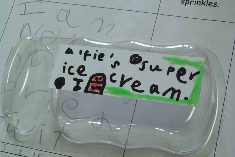 Ice cream labels.