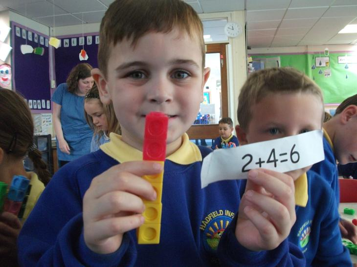 Making Number Bond towers.