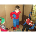 Role play in the Superhero den