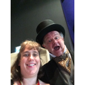 Miss Oxley's selfie with the man who's idea it was