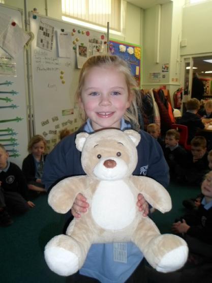 Meet Mandy the Birthday bear.