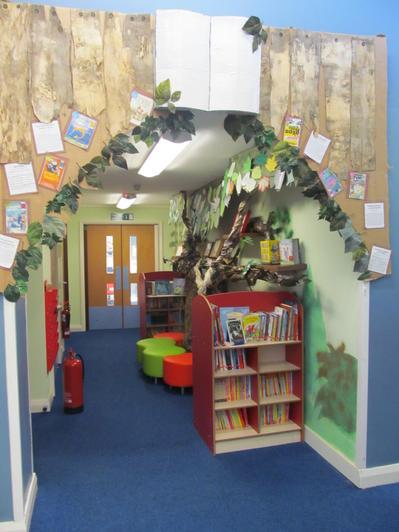 Wood of Words (junior reading corridor)