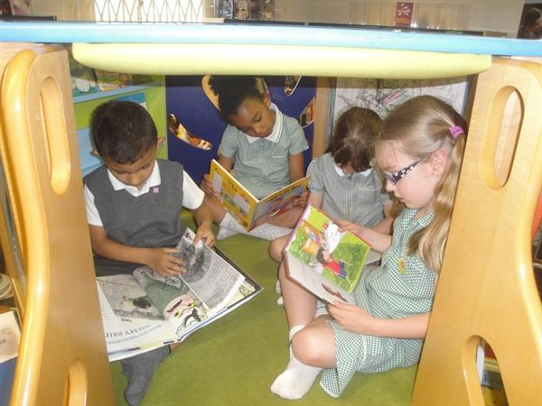 Look at our den to read in!