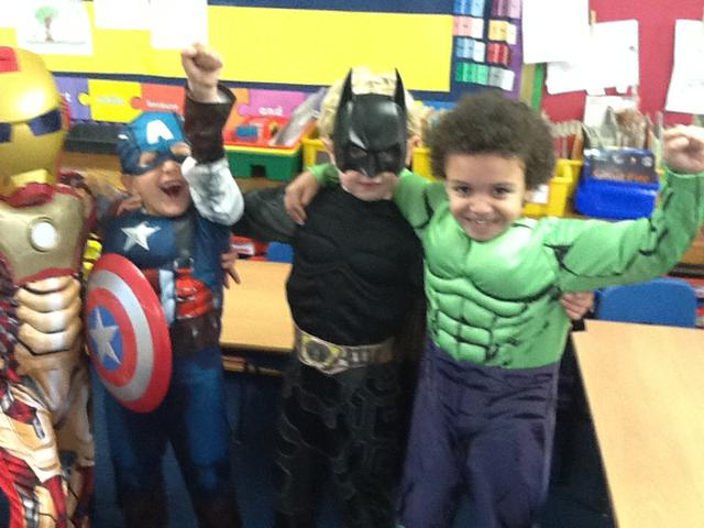 Captain America joined them in their victory!