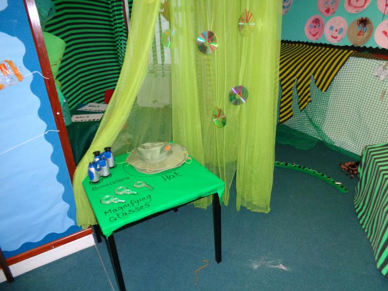 Look at our new Jungle role play area