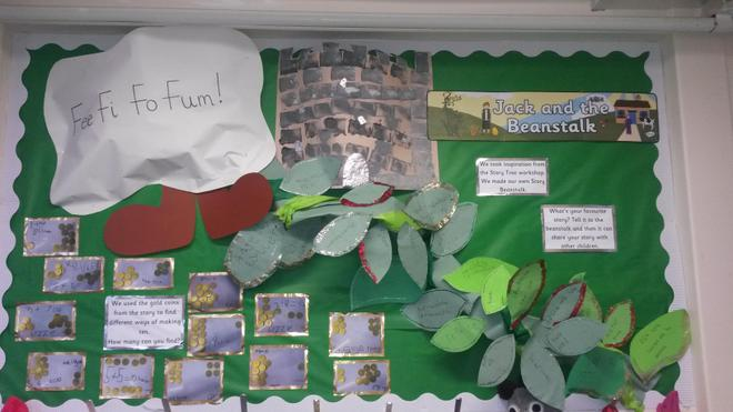 Jack and the beanstalk pantomime display
