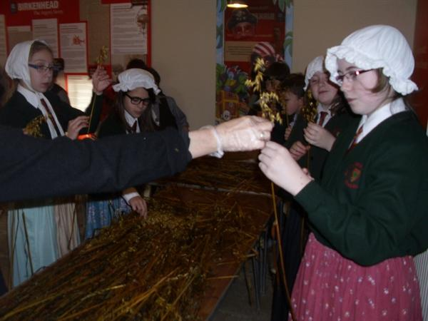 Making Corn Dollies-The Argory