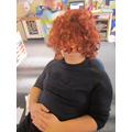 Mr Burke after Georgina had put a wig on!