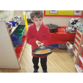 We had lots of fun flipping pancakes.