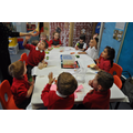 Class 1 making vegetable broth