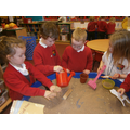 Small world-telling the Little Red Hen story