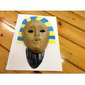 An Egyptian death mask