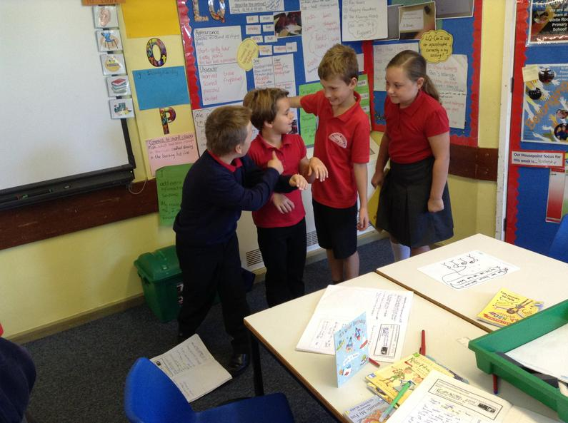 We performed poems about Kents Cavern.