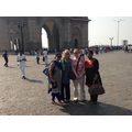 At Gateway to India, Mumbai, with our hosts.