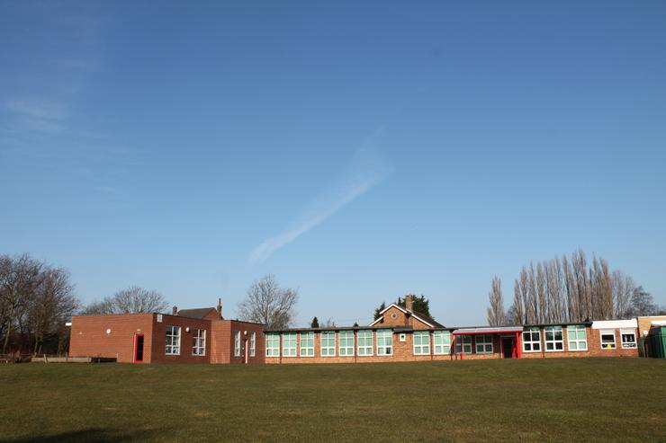 Rear view of Junior Classrooms