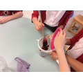 We mashed up the berries and sieved them...