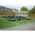 KS2 Tyre Park and Climbing Wall 2013
