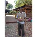 Deepak with his offering.