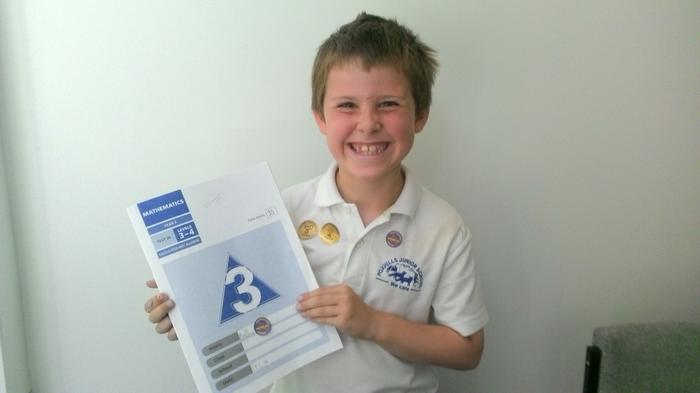 Matthew - top marks in Maths and Reading Tests!