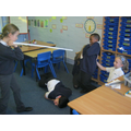 We all worked in groups to create freeze frames