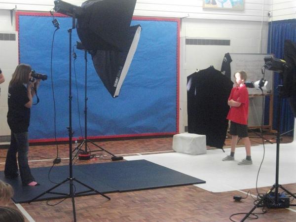 Miss Hosmer's class having school photos