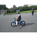 Look Mr Earnshaw no stabilisers