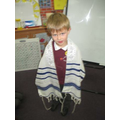 Trying on the Tallit