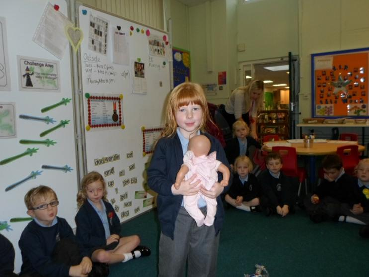 Baby Annabell behaved very well in school today