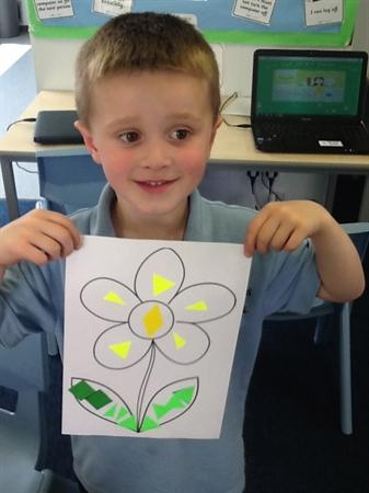 Making collages of flowers! Beautiful!