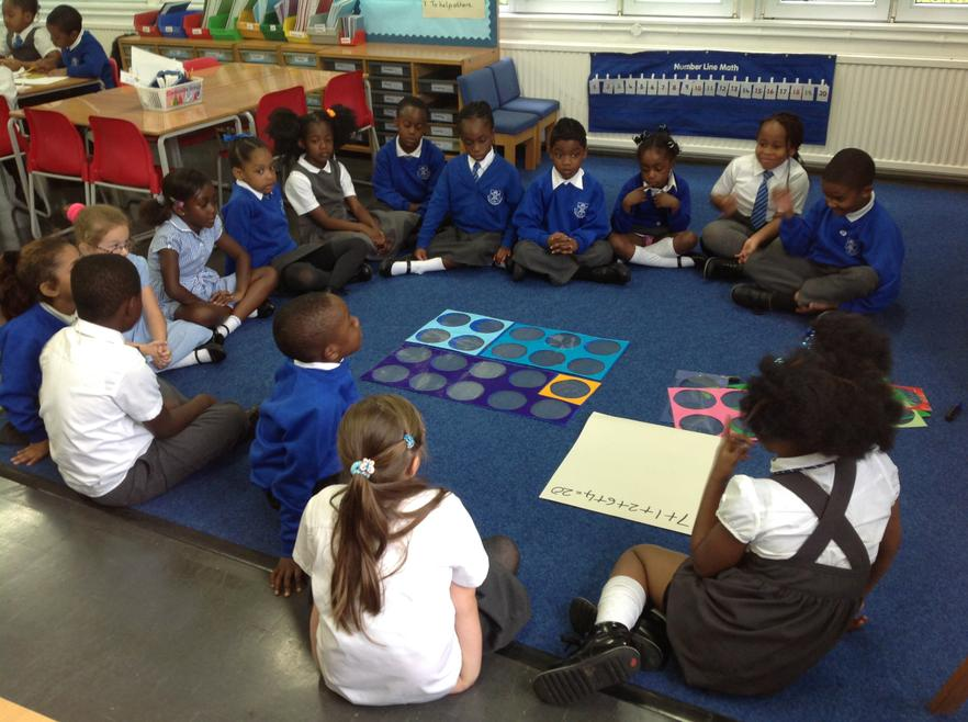 We use Numicon to help us make  20!