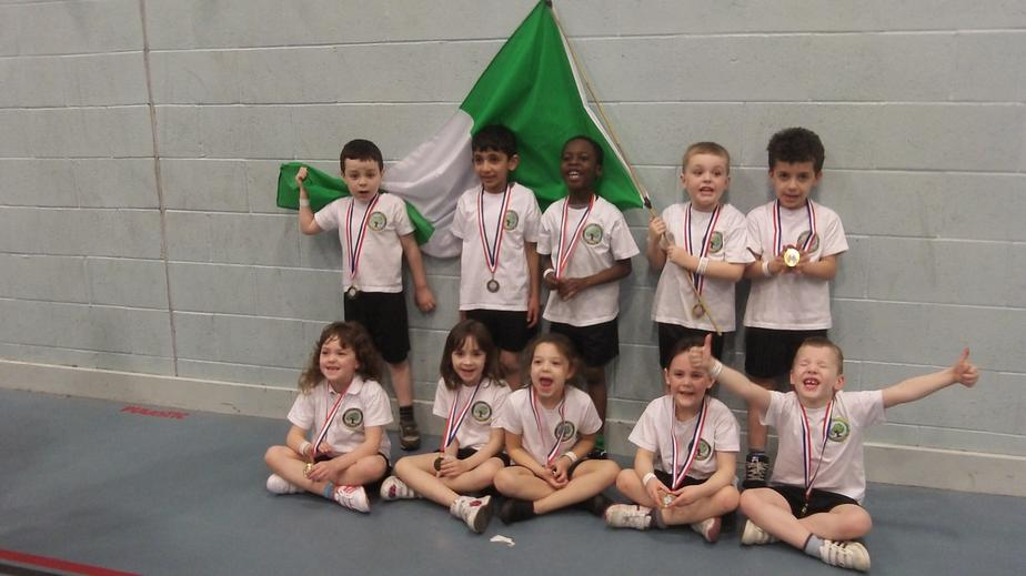 The team with our Commonwealth, Nigerian flag