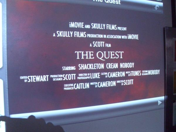 At The Movies This Winter - The Quest!
