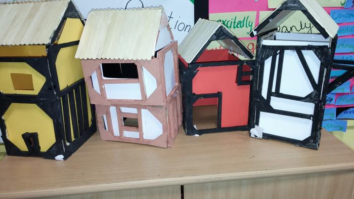 Year 5 and Year 6's model Tudor houses