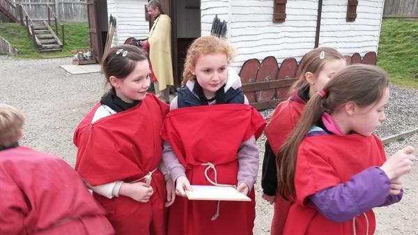 Our Roman Day at the fort in York!
