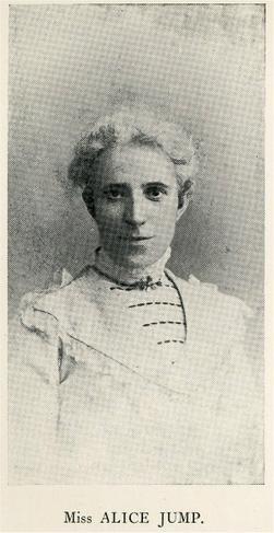 Miss Alice Jump, Head 1881 - 1926