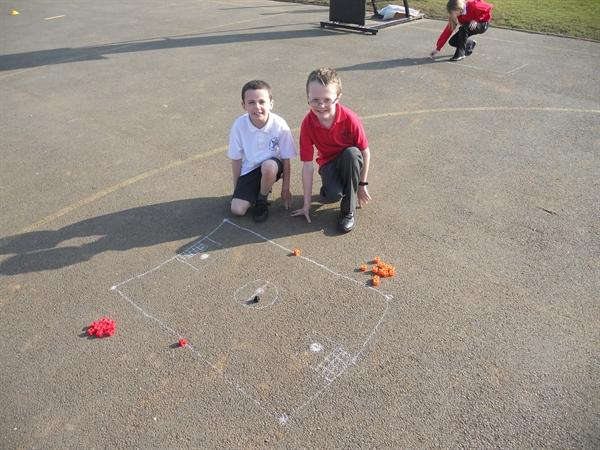 Our maths learning on the playground