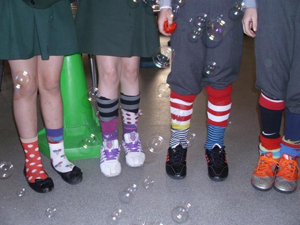 Silly Socks!! And Bubbles...