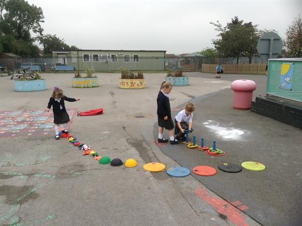 Setting up an obstacle course