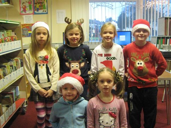 Look at our lovely Christmas jumpers!