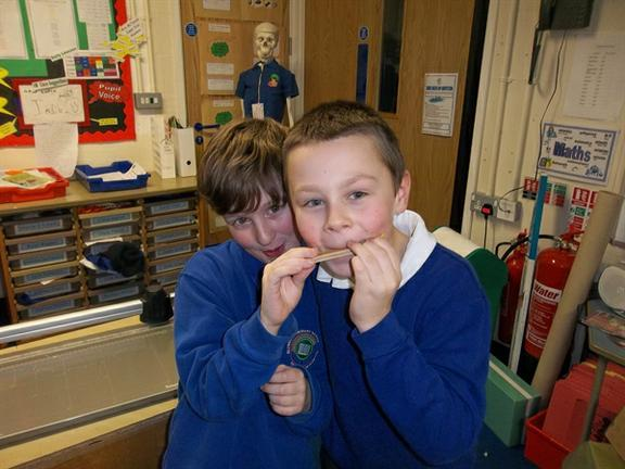 Year Four Exploring Sound with Sound Sandwiches