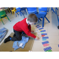 Learning the teen numbers using numicon