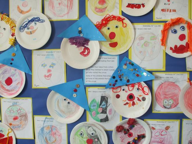 Children design and produce final work.