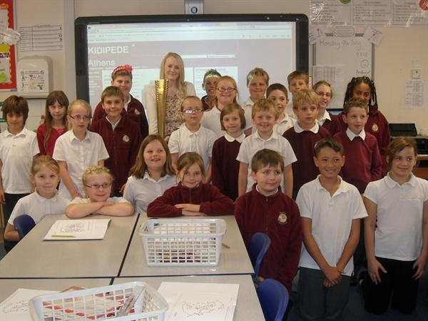 Miss Walker's class meet Lucy Davies