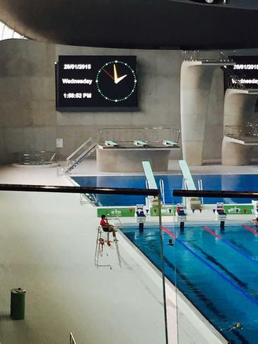 The Aquatics Centre at the Olympic Park