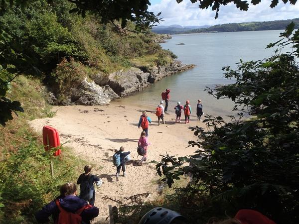 We found a hidden beach