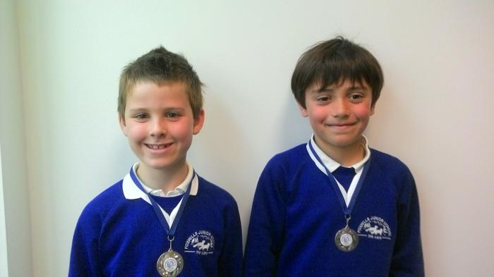 Matthew and Jacob: Oakmedians Rugby 4th out of 12!