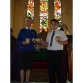 Bishop Science Award - Nathan and Kyle