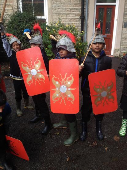 Our little Roman soildiers!
